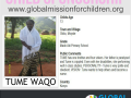 Tume Waqo, 13 yrs, mado adi Pry sch. disable sponsor pic