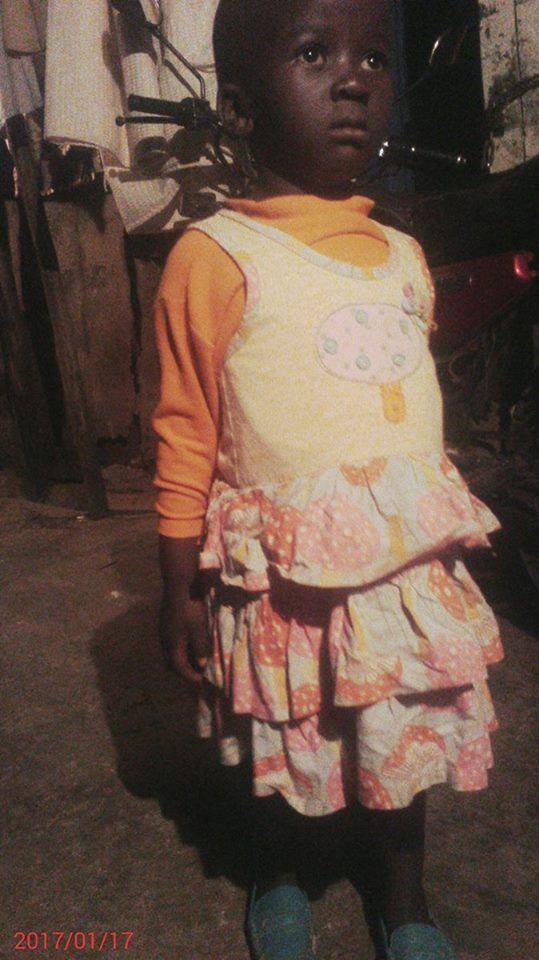 Faith Achieng age 4 Female grade baby class last born family of 5 mother only-be Teacher