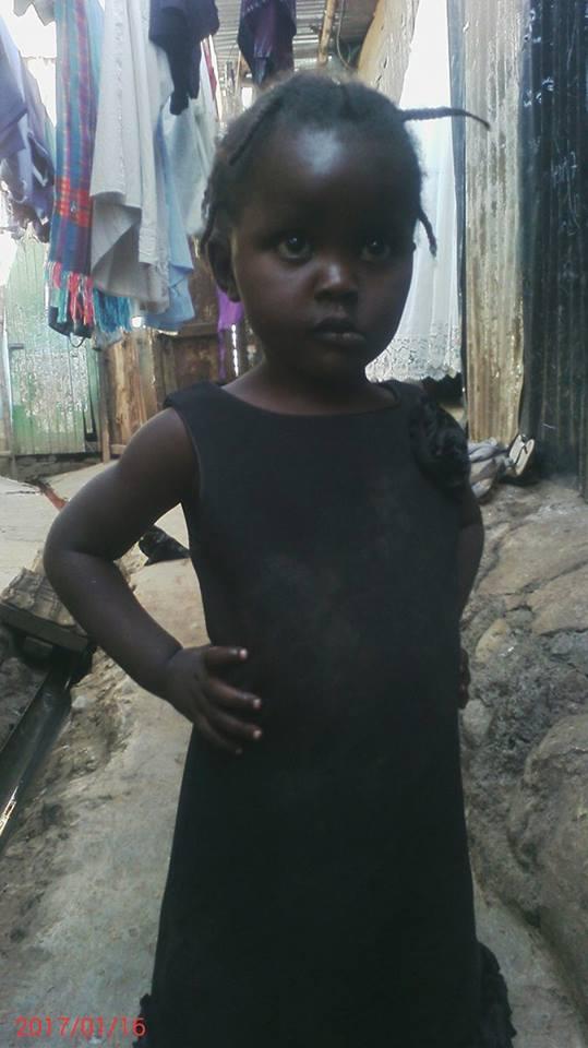 Linnet Akinyi age 3 Female grade baby class orphan-be Teacher last born in 4 children