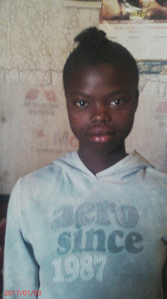 Rosemary Akinyi age 13 grade 9 Female- be Nurse 5th family of 7