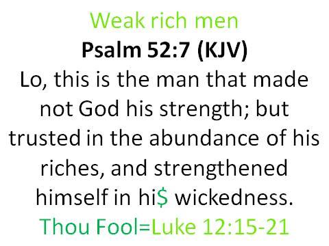 Weak rich MEN