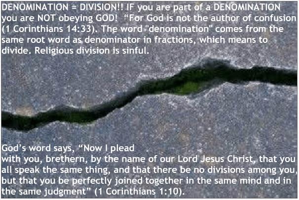 denomination division