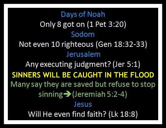 dAYS OF nOAH sINNERS sALVATION