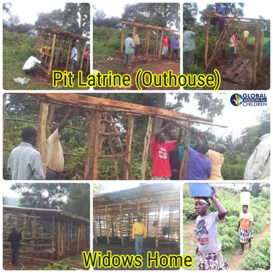 Pit Latrine Outhouse Widows Home Uganda Kenya